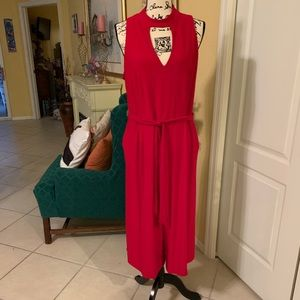 Emma & Michelle red jumpsuit.